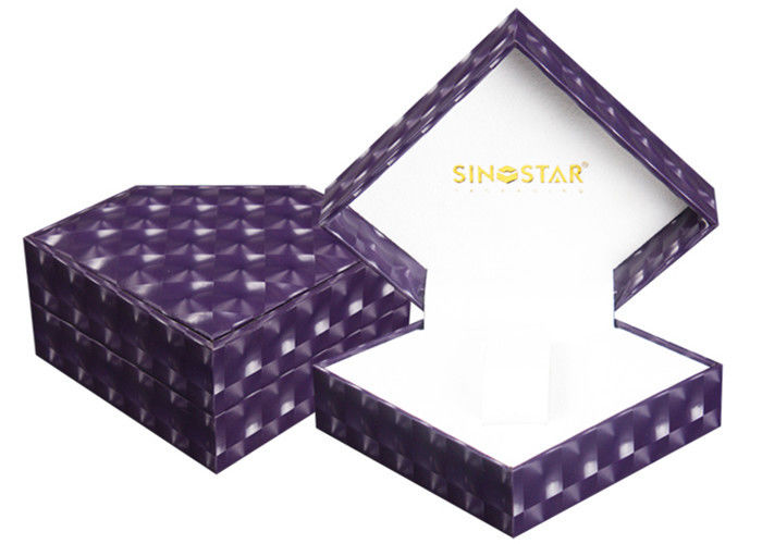 Custom Luxury Handmade  Single Watch Box Purple Durable Presentation Gift