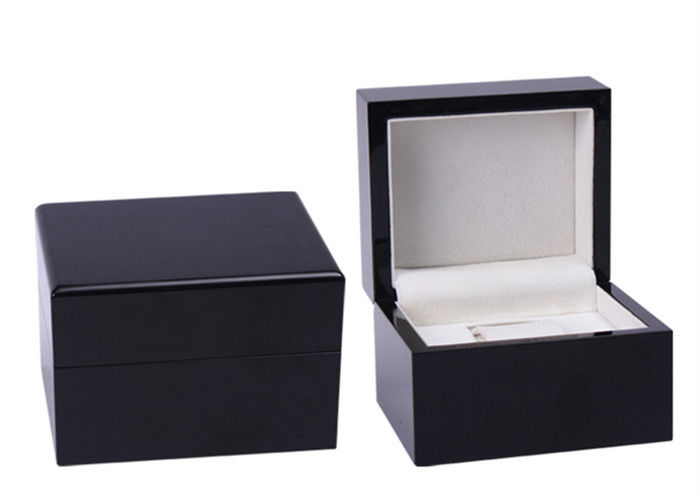 High End Wooden Watch Box High Gloss Finish Surface 9mm Thickness MDF Eco - Friendly